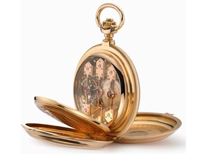 Mẫu đồng hồ bỏ túi Tourbillon 3 cầu vàng độc đáo của Girard-Perregaux