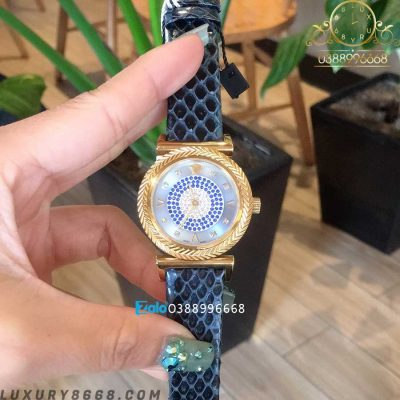 đồng hồ versace dây da